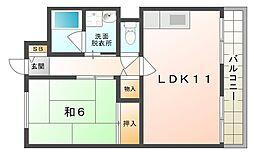 ヤマサ第6マンション[3階]の間取り