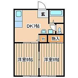 鶴新ハイツ[1階]の間取り