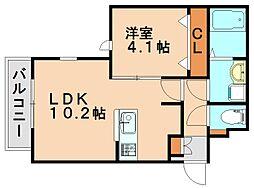 セジュール[3階]の間取り