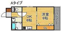 ウィングテル御崎[3階]の間取り