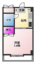 神奈川県厚木市幸町の賃貸マンションの間取り