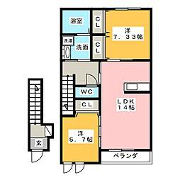 サイフィス[2階]の間取り