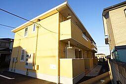 埼玉県鴻巣市箕田の賃貸アパートの外観