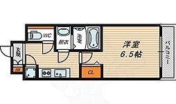 京阪本線 京橋駅 徒歩9分の賃貸マンション 8階1Kの間取り