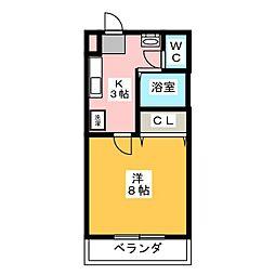 ラ・セゾンK[3階]の間取り