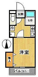東ノ峯ヒルズA棟[2階]の間取り