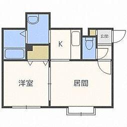 アリオンN28[2階]の間取り