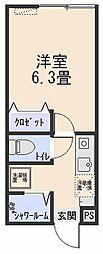 東京都世田谷区南烏山4の賃貸アパートの間取り