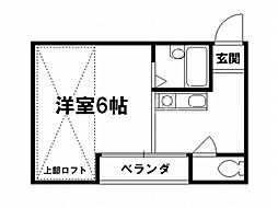 ロイヤルハイツコトブキ[4階]の間取り