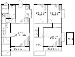 [テラスハウス] 東京都杉並区久我山4丁目 の賃貸【/】の間取り