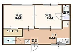 エクセル山田[2階]の間取り