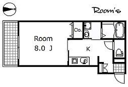 Grove House[2階]の間取り