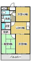 愛知県名古屋市中川区法華西町の賃貸アパートの間取り