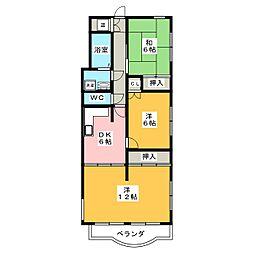 ライオンズマンション本山[2階]の間取り