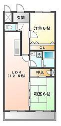 サニーセトル[1階]の間取り
