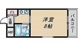 メゾンエマーブル[201号室]の間取り