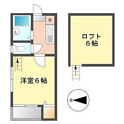 ハットインナゴヤ(Hut In Nagoya)[2階]の間取り