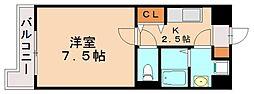 スカイコート博多駅前第2[8階]の間取り