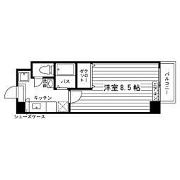 学生会館 エリートNAKANOIII[6階]の間取り