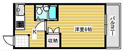 セラ天下茶屋[6階]の間取り
