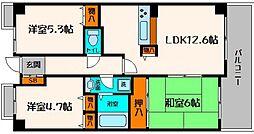 ベルシャトウ都島友渕町I番館[1階]の間取り