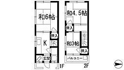 [テラスハウス] 兵庫県宝塚市小浜3丁目 の賃貸【/】の間取り