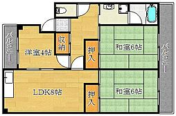 中沢マンション[2階]の間取り