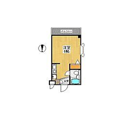 アパートゆう[0302号室]の間取り