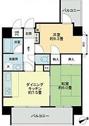 ライオンズマンション平和大通り第2[3階]の間取り