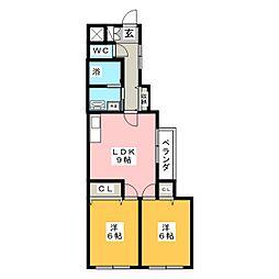 エンドウハイツII[3階]の間取り