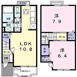 LINE PLACIDO[0103号室]の間取り