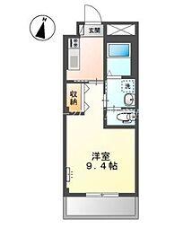 岡山電気軌道清輝橋線 清輝橋駅 徒歩30分の賃貸アパート 3階1Kの間取り