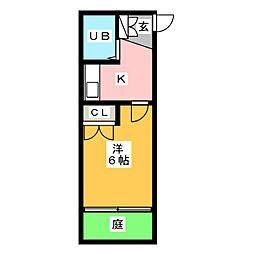 ニッシンハイツ宝田[1階]の間取り