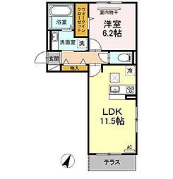 D-Room戸原東[1階]の間取り