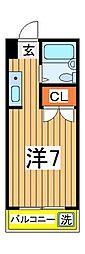 ロイヤルシティー壱番館[2階]の間取り