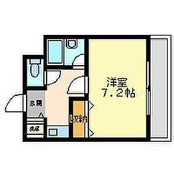 兵庫県尼崎市南塚口町4丁目の賃貸マンションの間取り