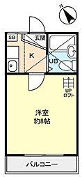 ギャレット21[1階]の間取り