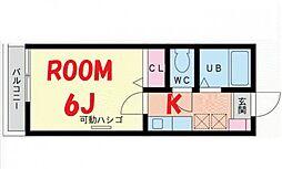 神奈川県横浜市鶴見区岸谷4の賃貸アパートの間取り