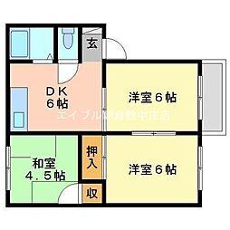 MKマンションB棟[2階]の間取り