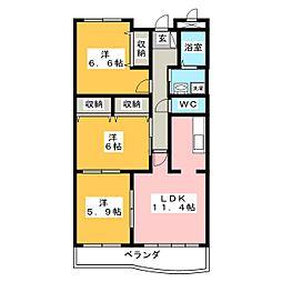 CanfortableMOMO[3階]の間取り