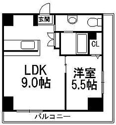 AMSタワー中島[301号室]の間取り