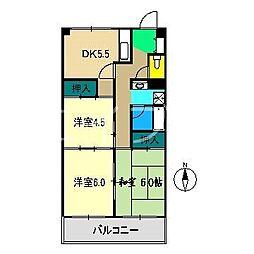 ハイツヨシカワ[7階]の間取り