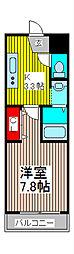 サンモール蕨[2階]の間取り