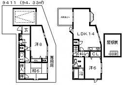 [一戸建] 大阪府藤井寺市小山1丁目 の賃貸【/】の間取り