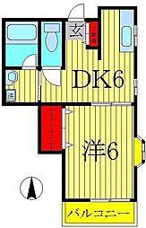 レジデンスKATO[3階]の間取り