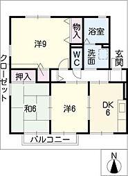 オレンジハウス南館[2階]の間取り