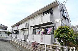 千葉県流山市美田の賃貸アパートの外観