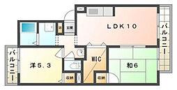 サニーコートシャンテ[2階]の間取り