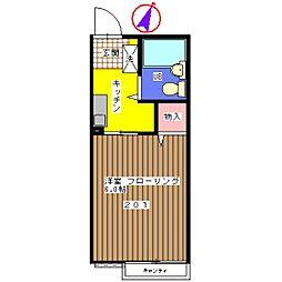 シティハイム ロワール[2階]の間取り