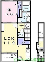 ブランボヌール[2階]の間取り